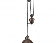 Подвесной светильник в стиле Лофт коричневого цвета Люмион Хэнк