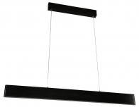 Чёрный подвесной линейный светильник